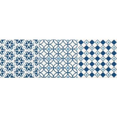 arte avignon cobalt 1 dekor 14,8x44,8 cm