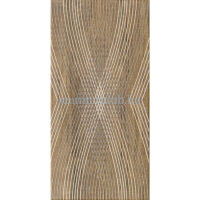 domino kervara modern brown dekor 22,3x44,8 cm