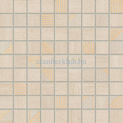 domino woodbrille beige mozaik 30x30 cm