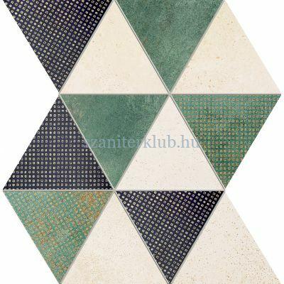 domino margot green mozaik 25,8x32,8 cm