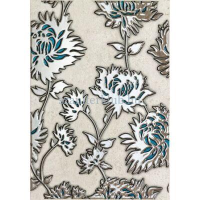 domino gris flower turkus dekor 250 x 360 mm