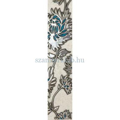 domino gris flower turkus 74 x 360 mm