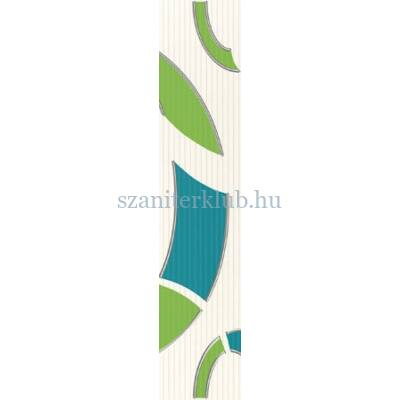 arte domino indigo 2 dekorcsík 7,4x36 cm