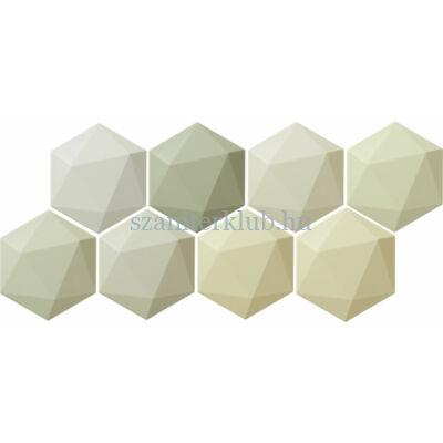 arte origami green hex csempe 11x12,5 cm