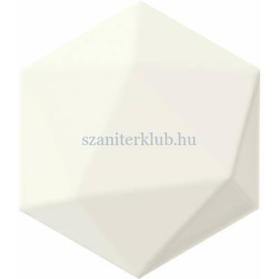 arte origami white hex csempe 11x12,5 cm