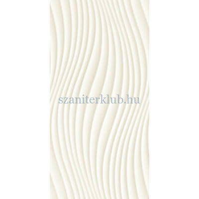 arte satini white wave str csempe 298x598 mm