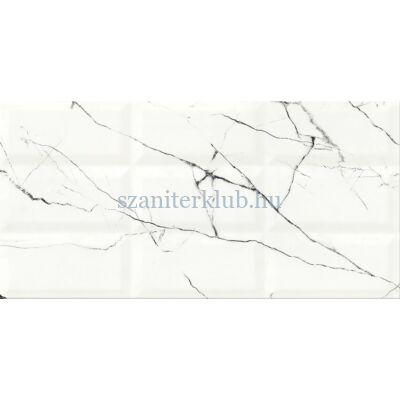 cersanit arce white structure glossy csempe 29,7x60 cm