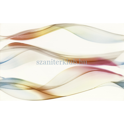 cersanit elfi azure inserto waves dekor 250 x 400 mm