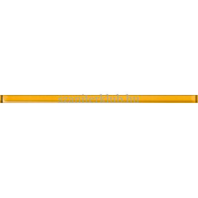 cersanit elfi glass yellow border new 15 x 400 mm