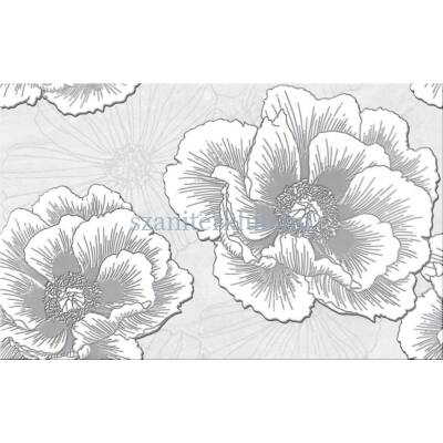 Cersanit Ferrata Grey Inserto Flower 25x40 cm